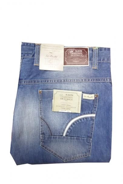 Big & Tall Man | Big Mens Ed Baxter Denim Jeans | Large Mens Denim Fashion Jeans | 46, 48, 50 Waist Mans Faded Jeans | Big Man Menswear