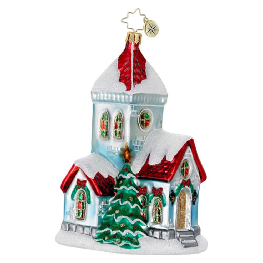 Christopher Radko Christmas Chapel Christmas Ornament