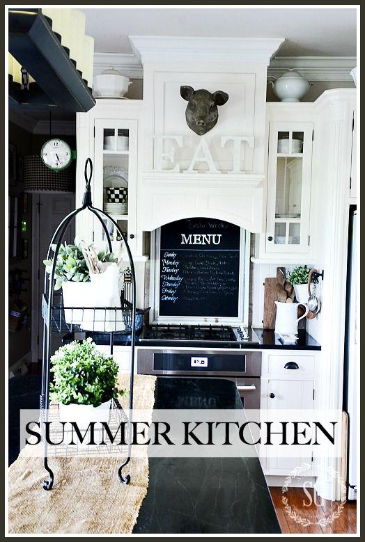 Summer Farmhouse Kitchen Farmhouse Kitchen Summer Kitchen Home