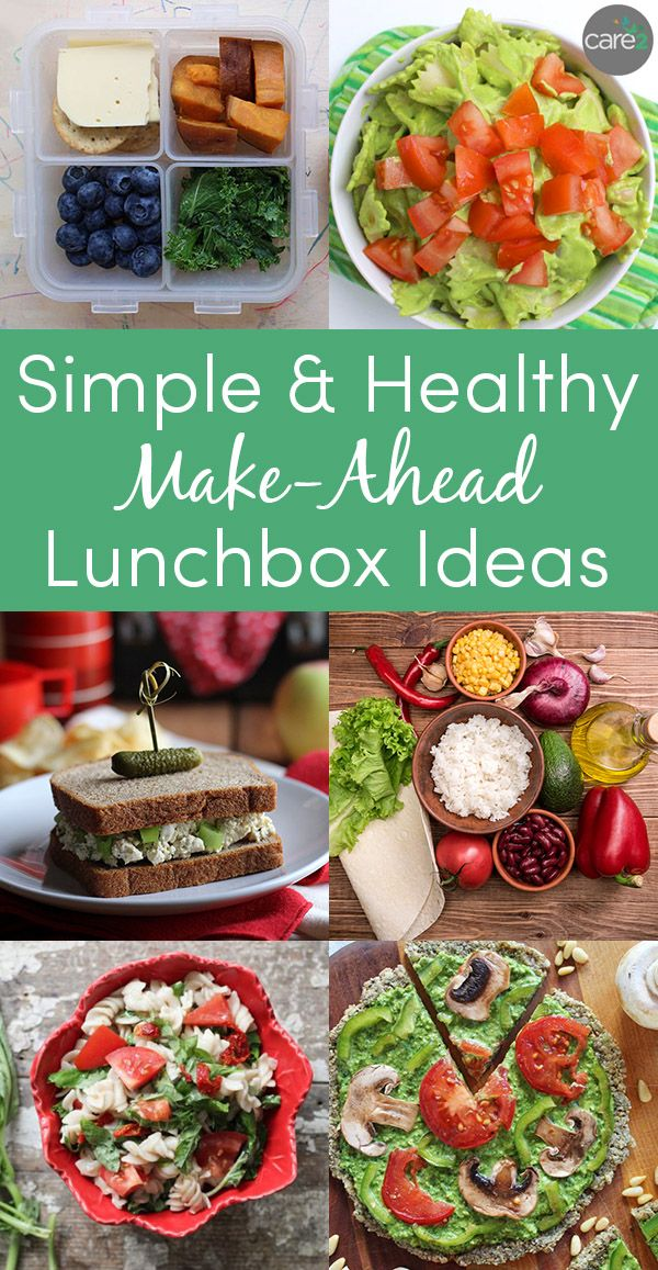Make-ahead lunches that you can pack the night before or even days in advance.   Healthy lunch ...