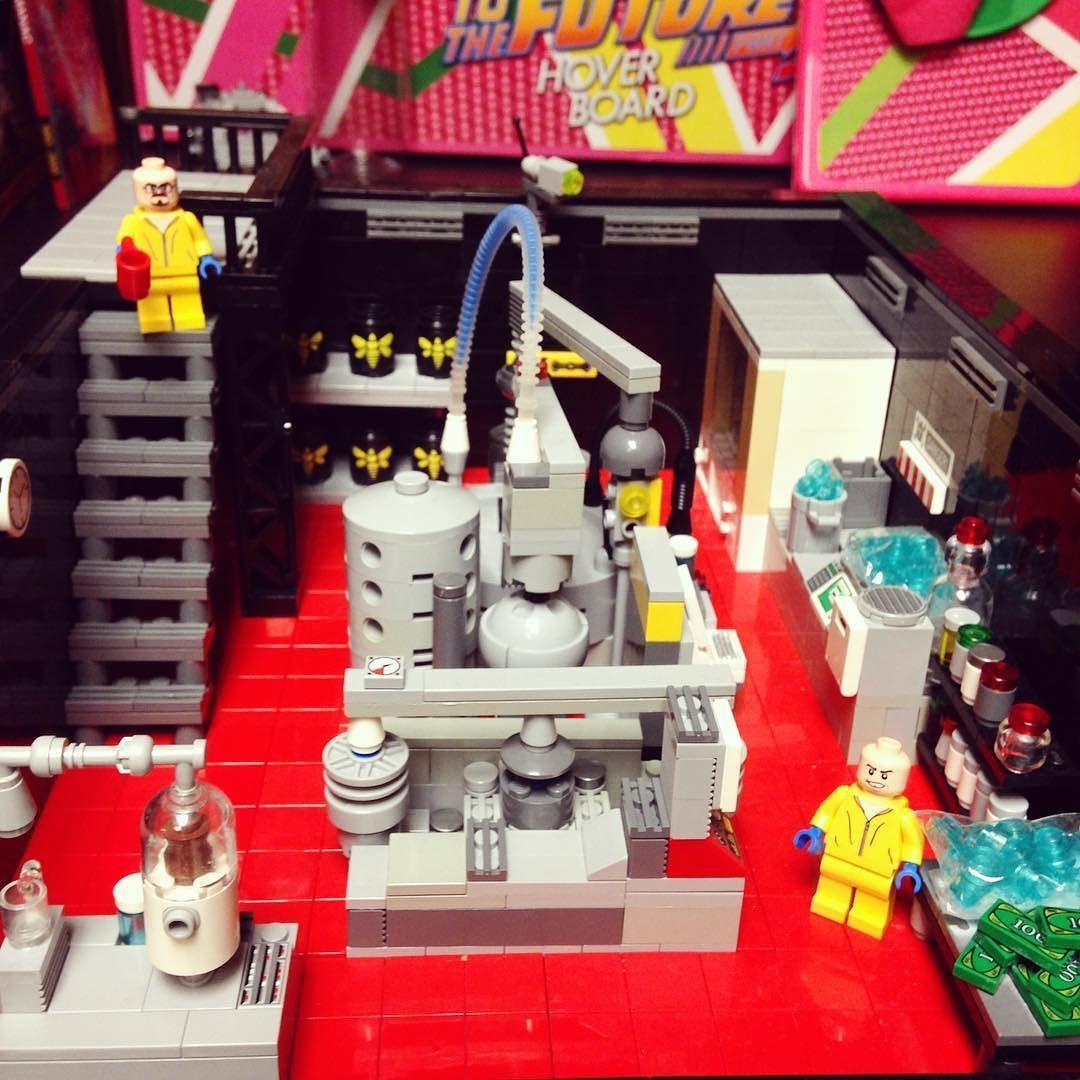 I set my breaking bad Lego meth lab in my office by iamjonnycasnuts