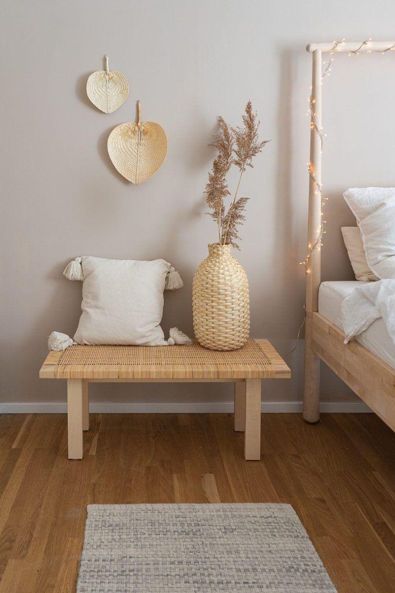 Photo of Schlafzimmer streichen mit beiger Wandfarbe und Einrichtungsideen › dreieckchen