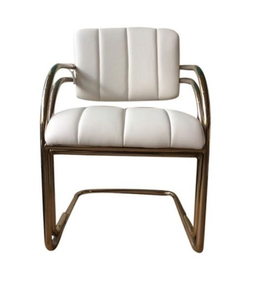 Anyon Design Vintage White Leather Chairs Furniture Seating Leather