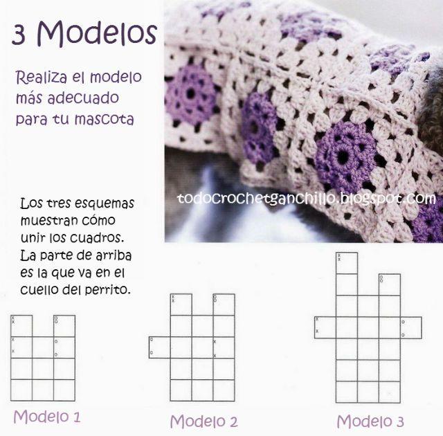 Elegancia Canina al Crochet / 3 modelos para tejer DIY / Tutorial ...