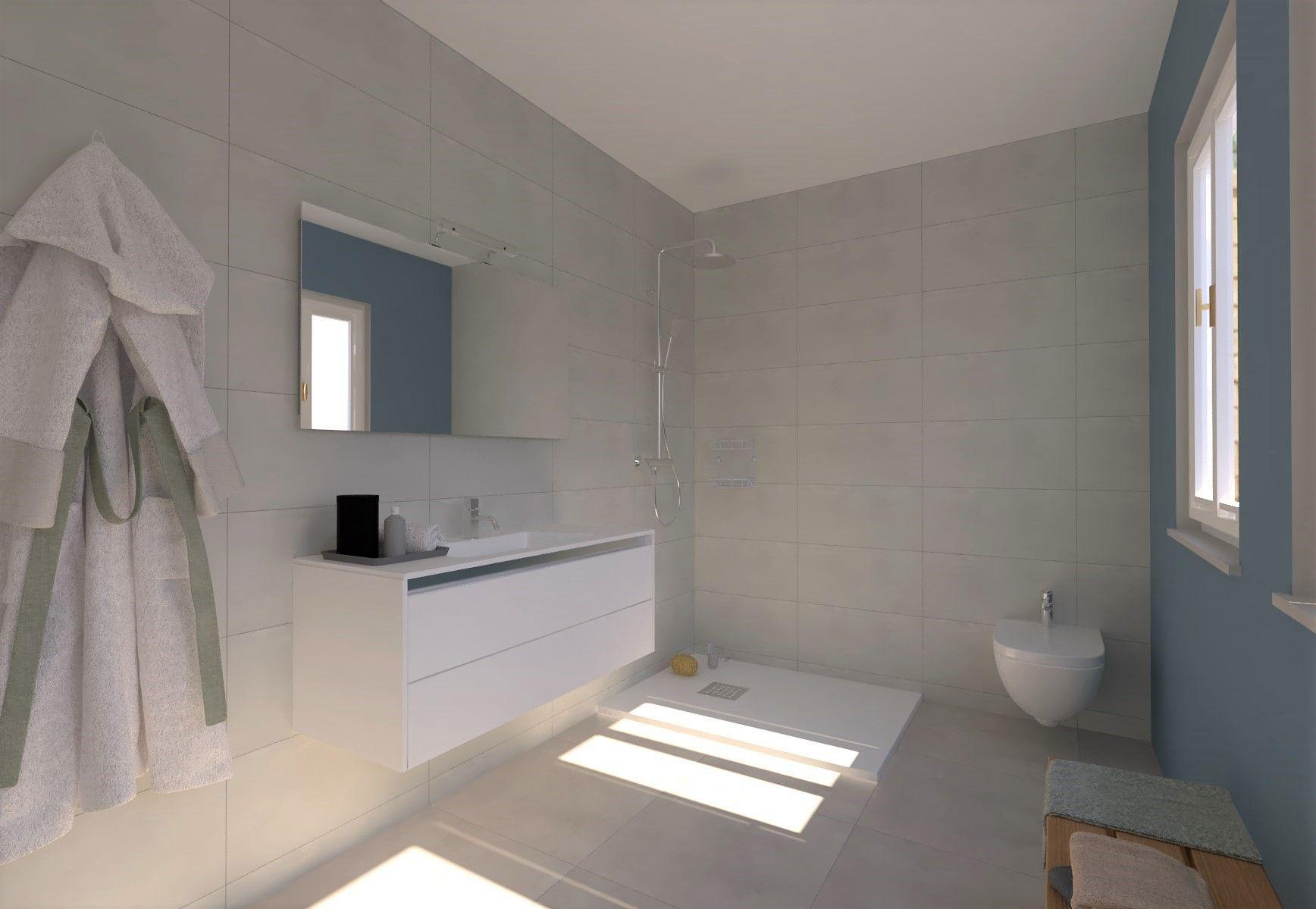Salle De Bain Epure Carrelage Et Faience Blanche Legerement Satine Par Endroit Narbonne Alcove Bathtub Home Decor Bathtub