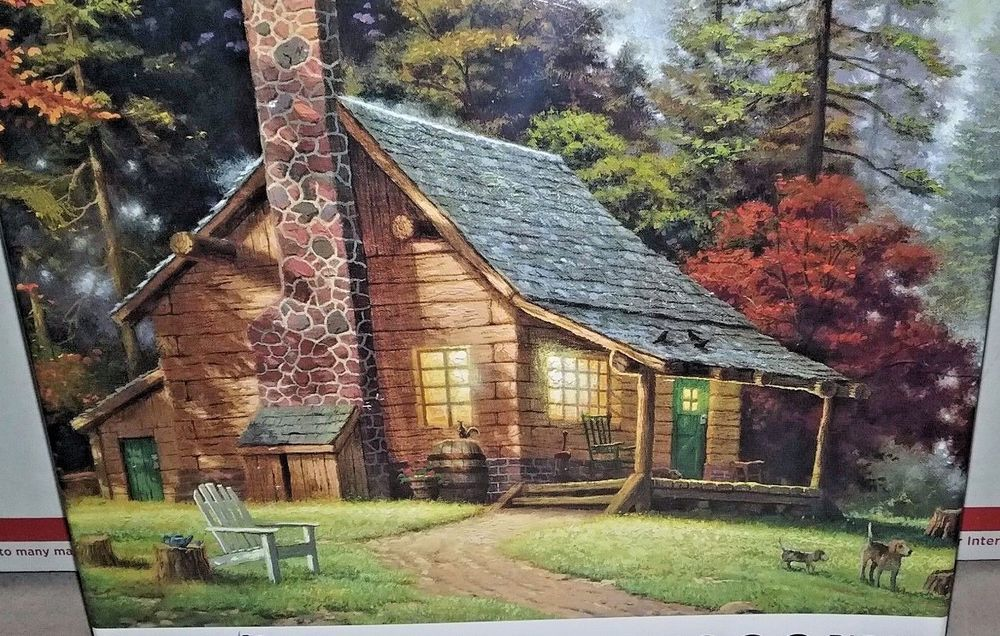 Thomas Kinkade 1000 Piece Jigsaw Puzzle A Peaceful Retreat