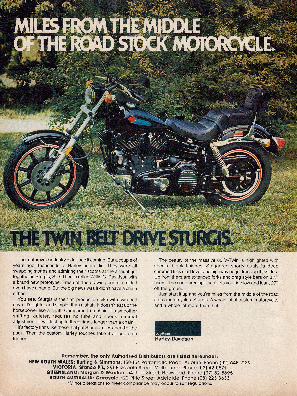 Harley Davidson 1981 Sturgis Australia  Full page