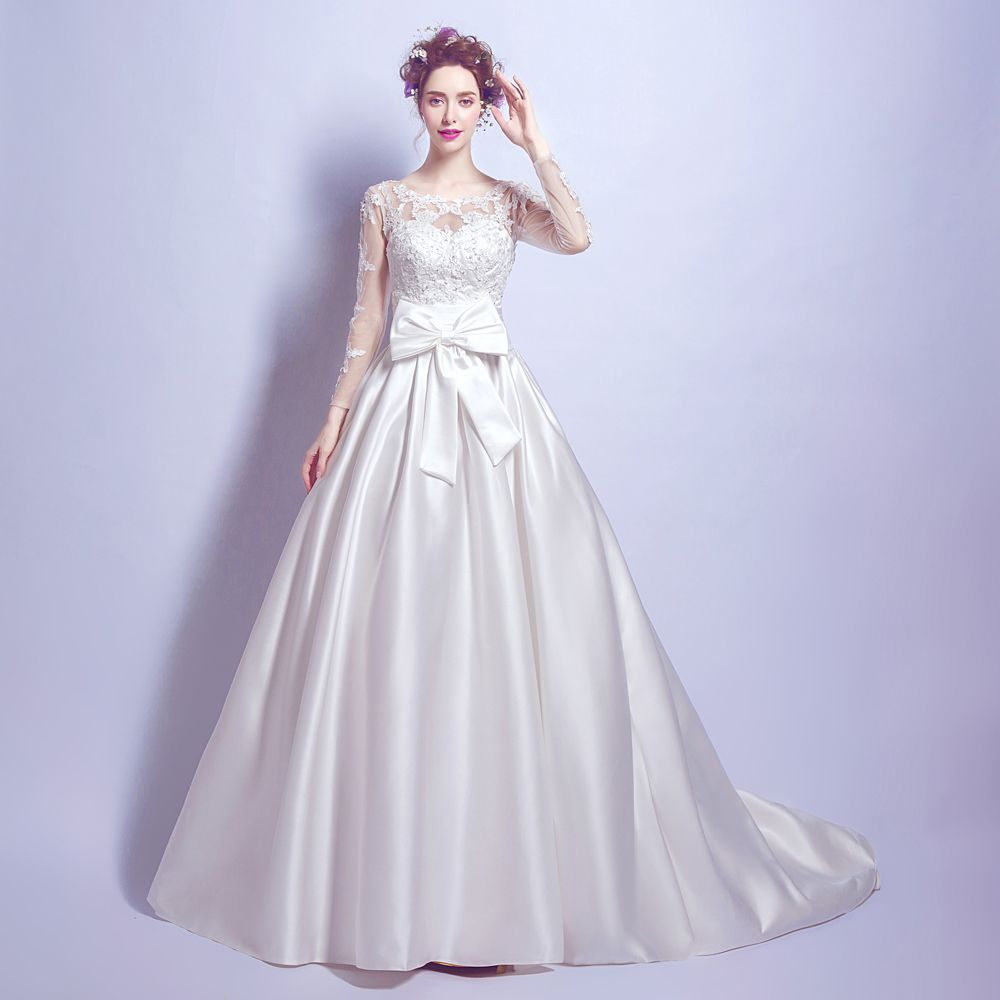 Click to buy ucuc angel wedding dress marriage bride bridal gown
