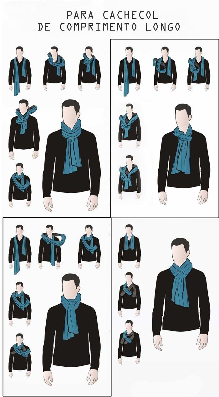 Cachecol Masculino   Looks, inspirações e dicas  is part of Mens scarf fashion - Hey galera! Muitos meninos me pedem dicas sobre como usar cachecol, que sempre nos deixam mais quentinhos e que, é uma peça mega estilosa
