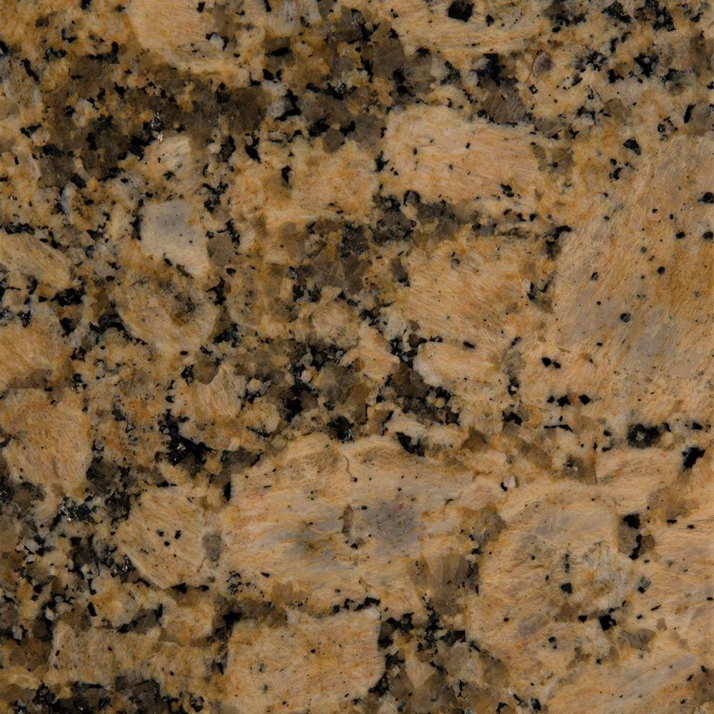 3 Inx 3 Ingranite Countertop Sample In Giallo Fiorito Entrancing Home Depot Kitchen Countertops Review