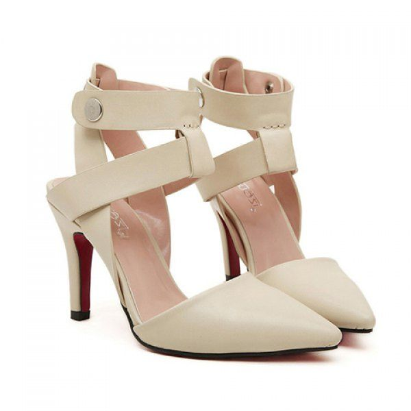 Sexy Solid Color and Buckle Strap Design Pumps For Women, APRICOT, 36 in Pumps | DressLily.com