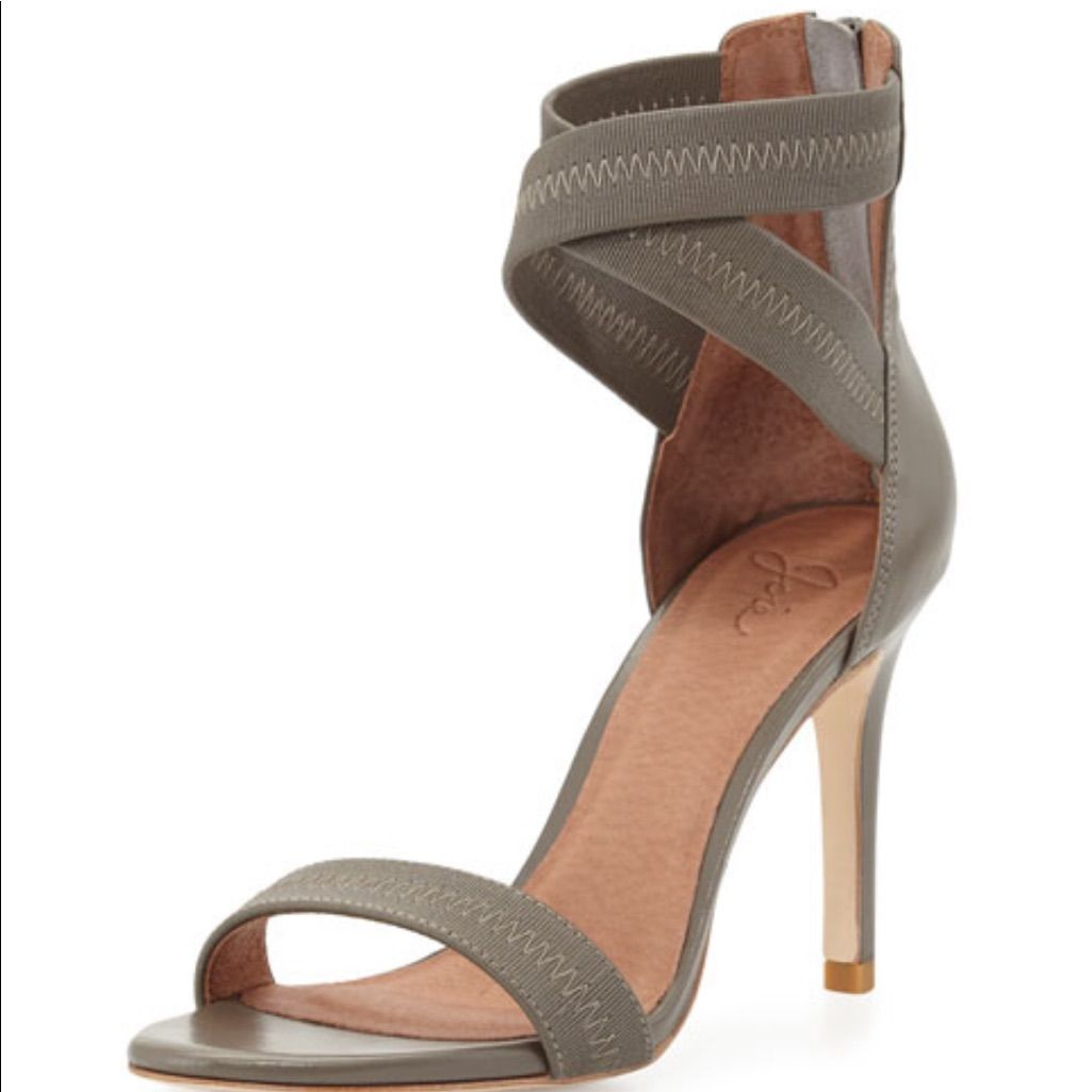 Elaine Elastic Leather Joie Heels Size 36 5 In 2020 Strappy High Heels Sandals Leather Strap Sandals Leather Sandals