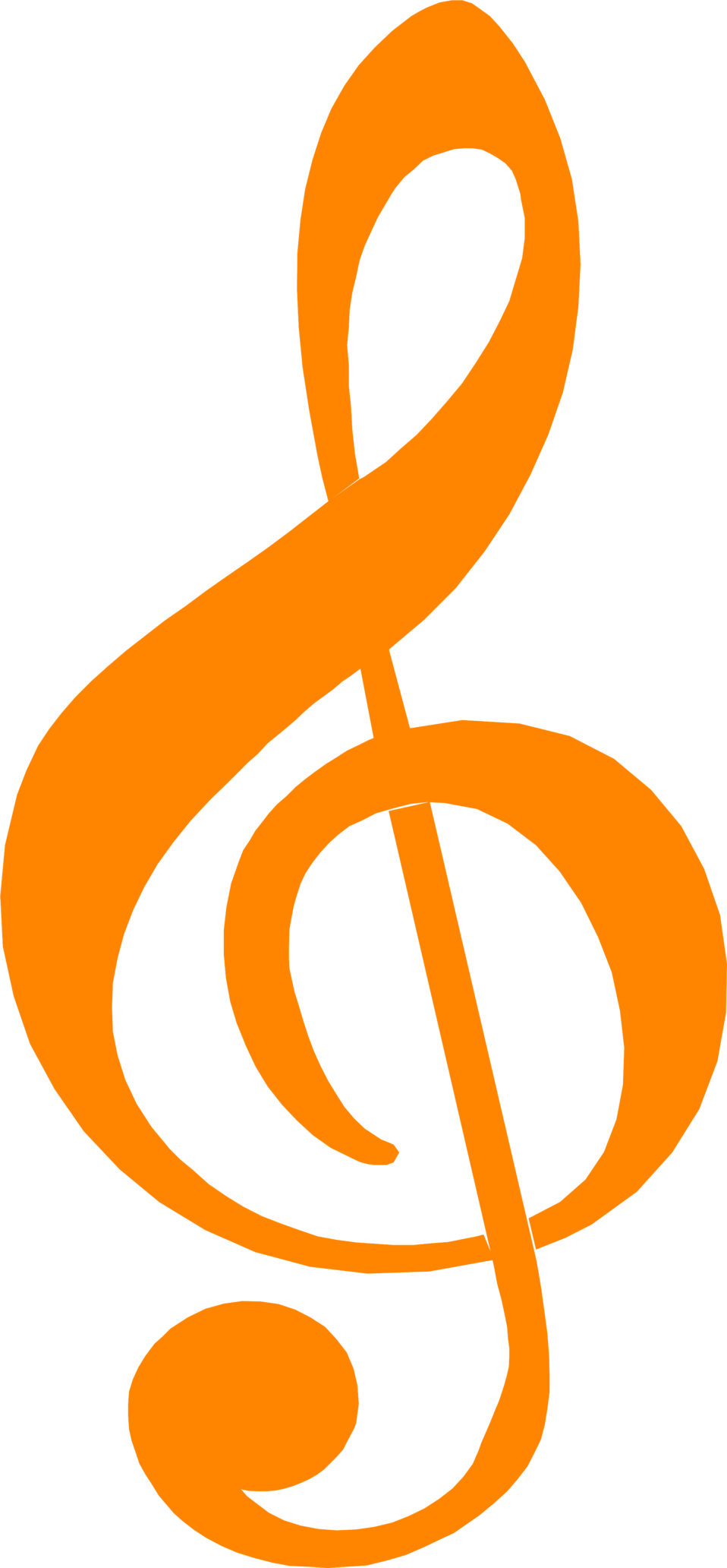 Free stock photo illustration of an orange treble clef music free stock photo illustration of an orange treble clef music symbol buycottarizona
