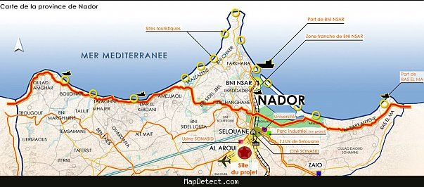 Nador Map httpmapdetectcomnadormaphtml My News Pinterest