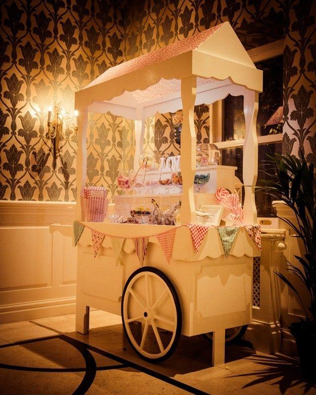 Cute Wedding Ideas For Reception: DIY Candy Buffet Cute For Vintage Carnival Wedding