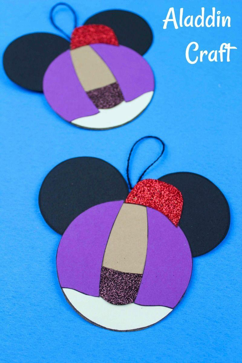 Aladdin Ornament Craft #FreePrintable #DisneyCraft # ...