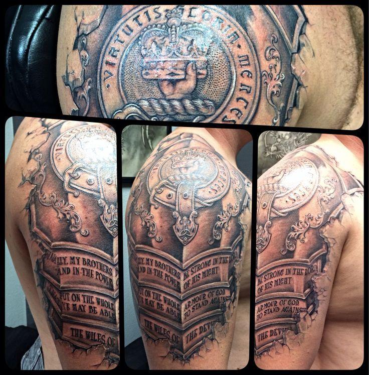 403 Forbidden Armour Tattoo Armor Tattoo Scottish Tattoos
