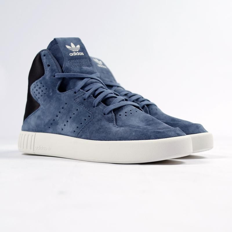 low priced 807ed bd503 ADIDAS TUBULAR INVADER 2 SNEAKER S80554 SUEDE BLUE | ADIDAS ...