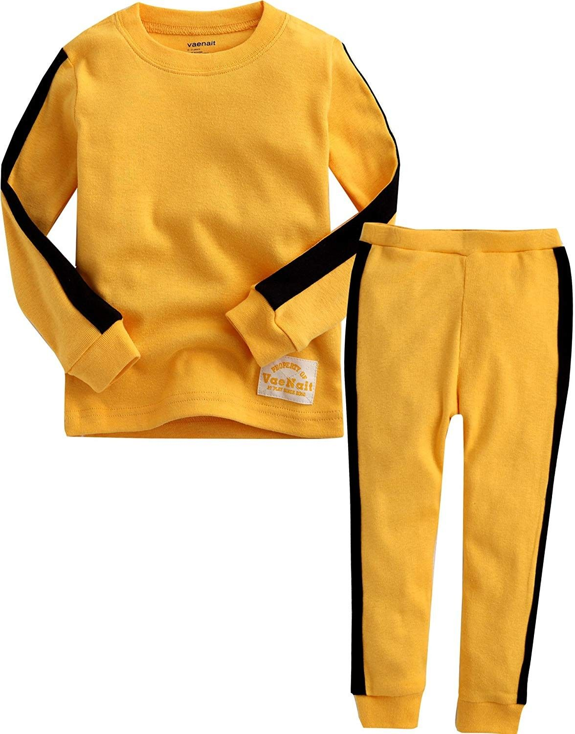 Little Boys Girls Pajamas Sets Clothes 2pcs Tops and Pants Outfits Kids Sleepwear 100/% Cotton