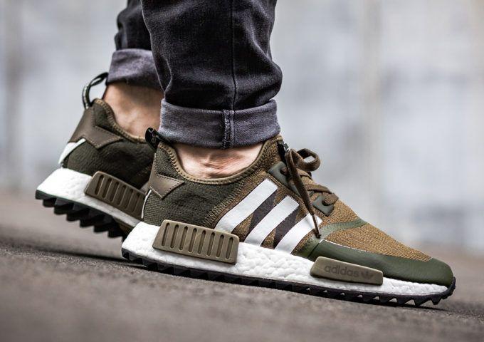 ADIDAS NMD WHITE mountaineering Trail Prime Knit Green Olive