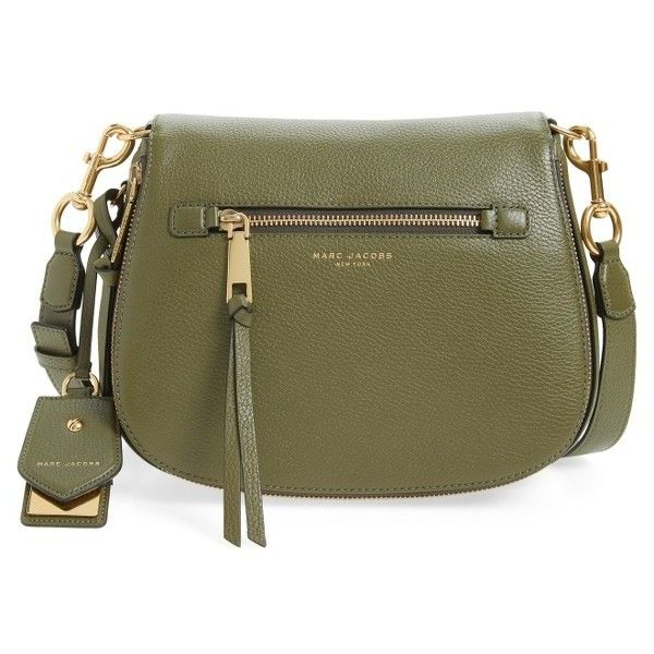 Women s Marc Jacobs Recruit Nomad Pebbled Leather Crossbody Bag (£345) ❤  liked on d1bdf6aa5
