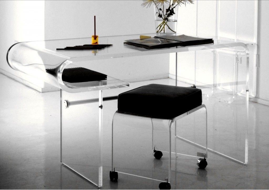 Curve Clear Acrylic Desk Acrylic Furniture Acrylic Dining