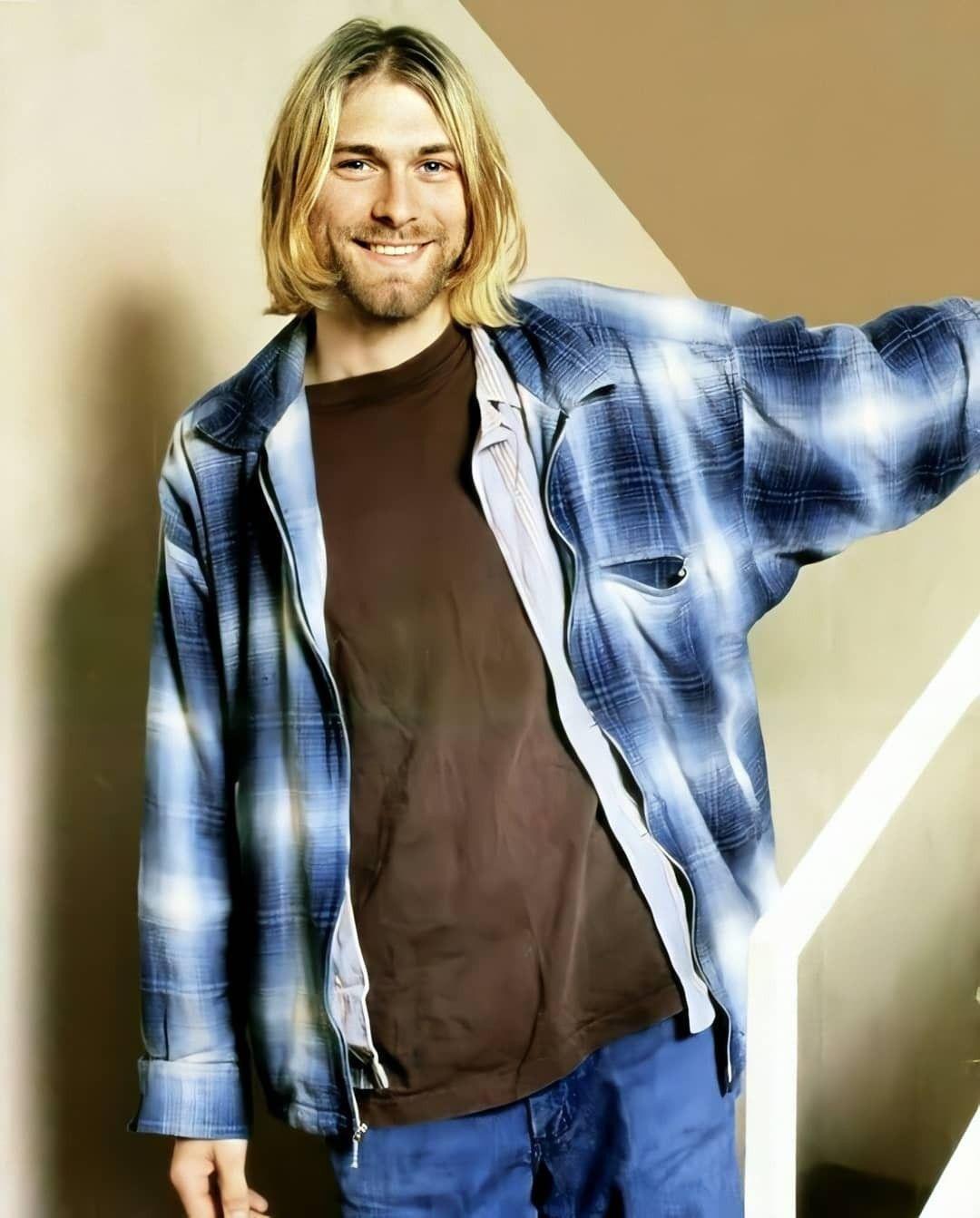 Pin By Velvet On Kurt Cobain Kurt Cobain Fashion Leather Jacket [ 1343 x 1080 Pixel ]