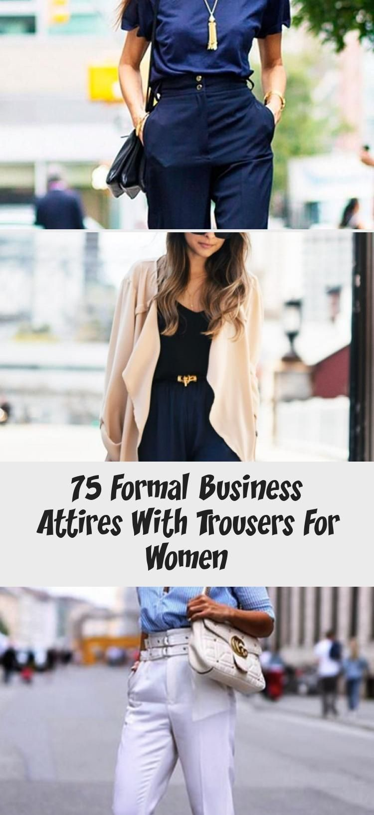 75 Formal Business Attires With Trousers For Women - Fashion