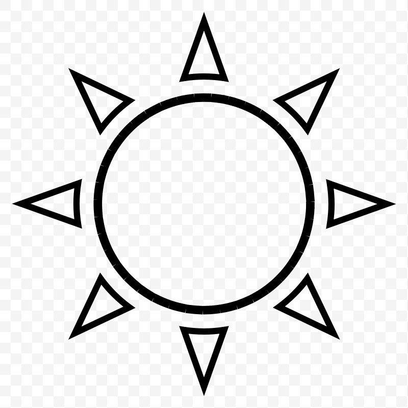 Cliparts Outline Sun Outline Clip Art Png Sun Area Black Black And White Brand Sun Outline Clip Art Sun Tattoo