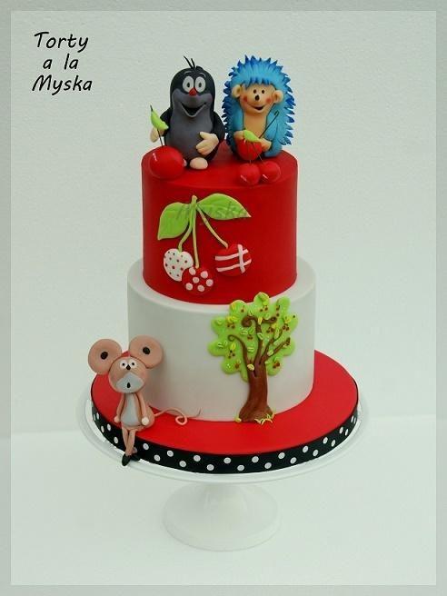 Krtek Cake By Myska With Images Kids Cake Cake Decorating Cake