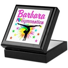 GYMNAST QUEEN Keepsake Box  Personalized Gymnastics keepsake and jewelry boxes décor to delight your beautiful Gymnast. http://www.cafepress.com/sportsstar/10114301 #Gymnastics #Gymnast #WomensGymnastics #Gymnastgift #Lovegymnastics #PersonalizedGymnast