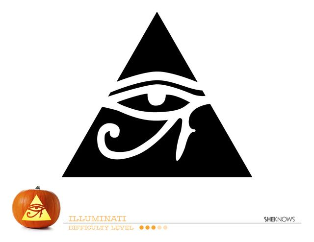 Illuminati pumpkin carving template - Free Printable Coloring Pages ...