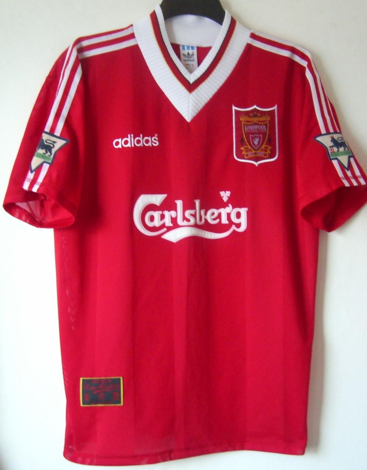 huge discount bb861 682dc Liverpool football shirt 1996 | football team | Football ...