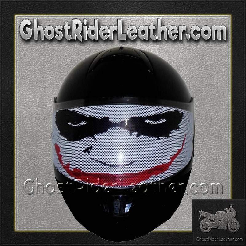 Joker sticker for the visor in your full face motorcycle