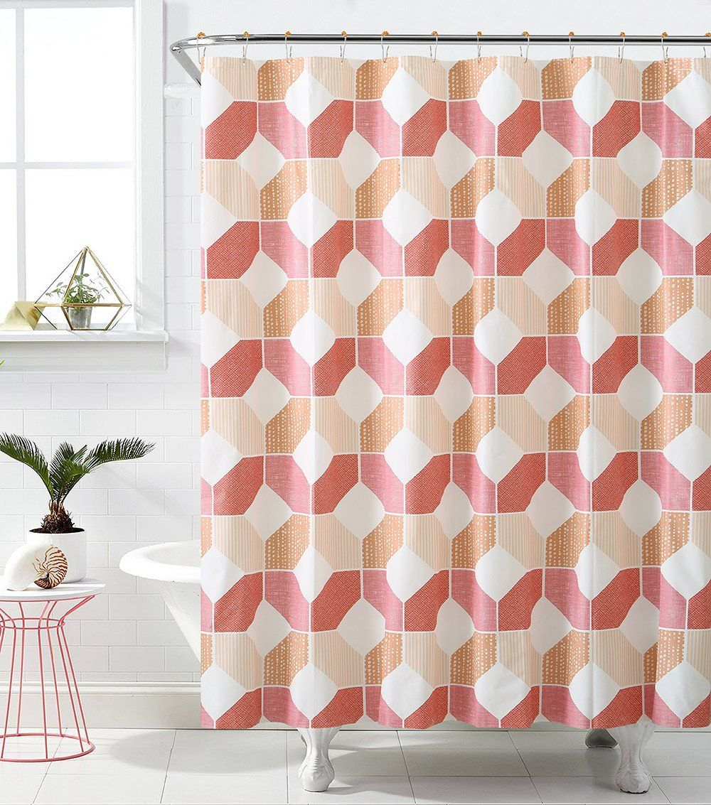 royal bath hexagonal heaven peva non toxic shower curtain 72 x 72 with 12 matching roller. Black Bedroom Furniture Sets. Home Design Ideas