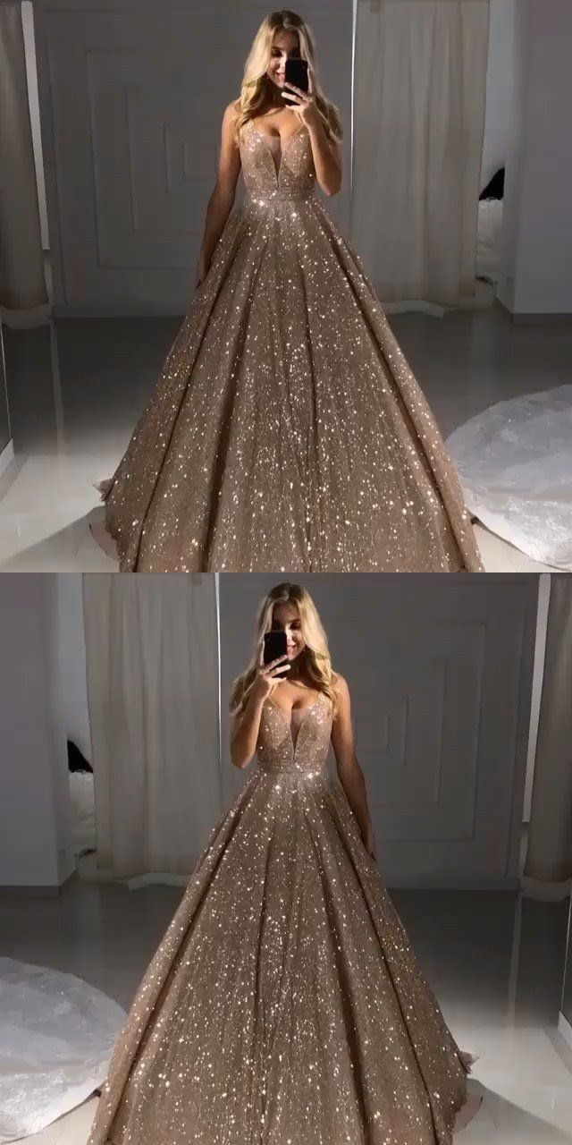 Charming Long Evening Dress, A-line Shinning Gorgeous Ball Gowns