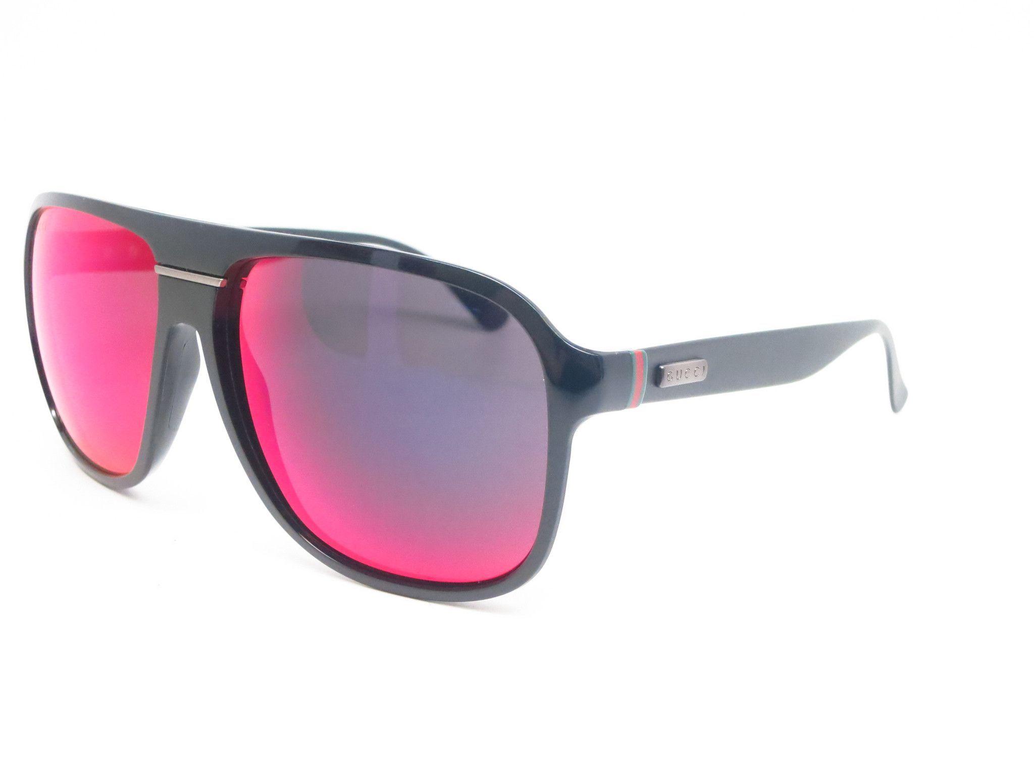 9704b46f71 Gucci GG 1076 GG1076 S Shiny Matte Black GVBMI Sunglasses