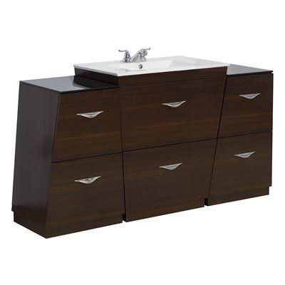American Imagination AI-12 Vee Plywood-Melamine Vanity Set