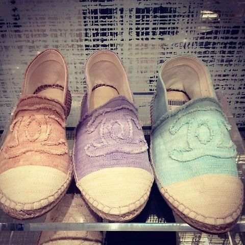 Chanel espadrilles Summer 2013 gahhhhh i would kill for those mint ones