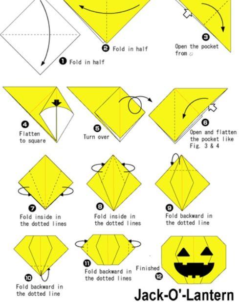 Origami Pumpkin Halloween Pinterest Origami Papiroflexia And
