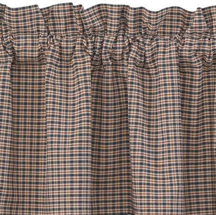 Patriot\'s Point Lined Curtain Tiers (Check Only) 72\