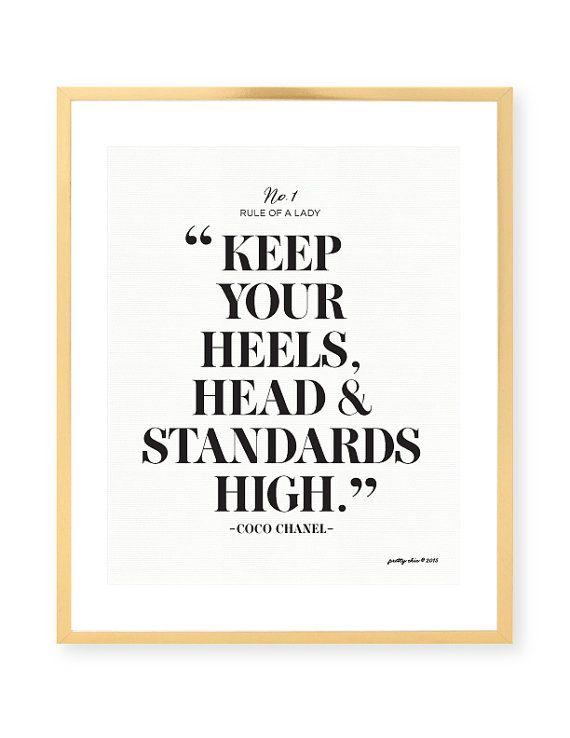 Keep Your Heels Head Standards High Print Bar By Prettychicsf