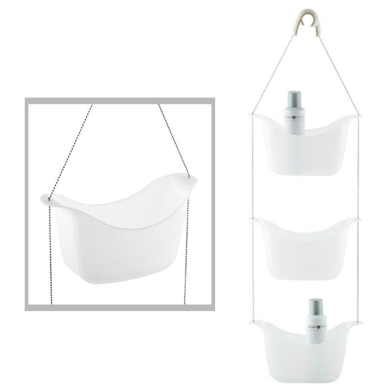 Basket Shower Caddy Set of 3 polypropylene baskets suspended with ...