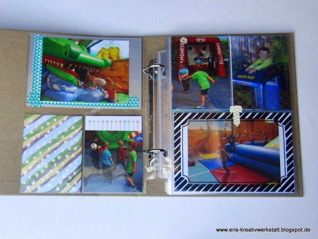 Meine Fotoalbum-Seiten vom Kindergeburtstag  http://eris-kreativwerkstatt.blogspot.de/2016/01/meine-fotoalbum-seiten-von-weihnachten.html  #stampinup #scrapbooking #teamstampingart #fotos