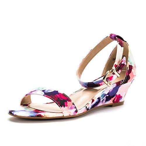 26ae3ae43 DREAM PAIRS Women s Ingrid Ankle Strap Low Wedge Sandals