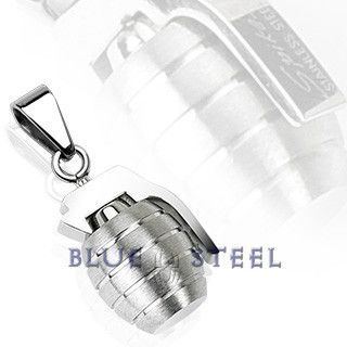 PIN IT TO WIN IT! Grenade: Grenade shaped pendant provides a terrific look that is sure to give you a confident style.     $39.99  www.buybluesteel.com