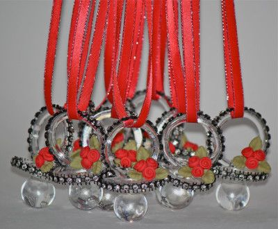 Lady Bug Red And Black Baby Shower Pacifier Necklace