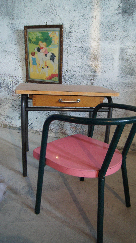 Ensemble De Bureau Vintage Pour Enfant Decor Home Decor Table