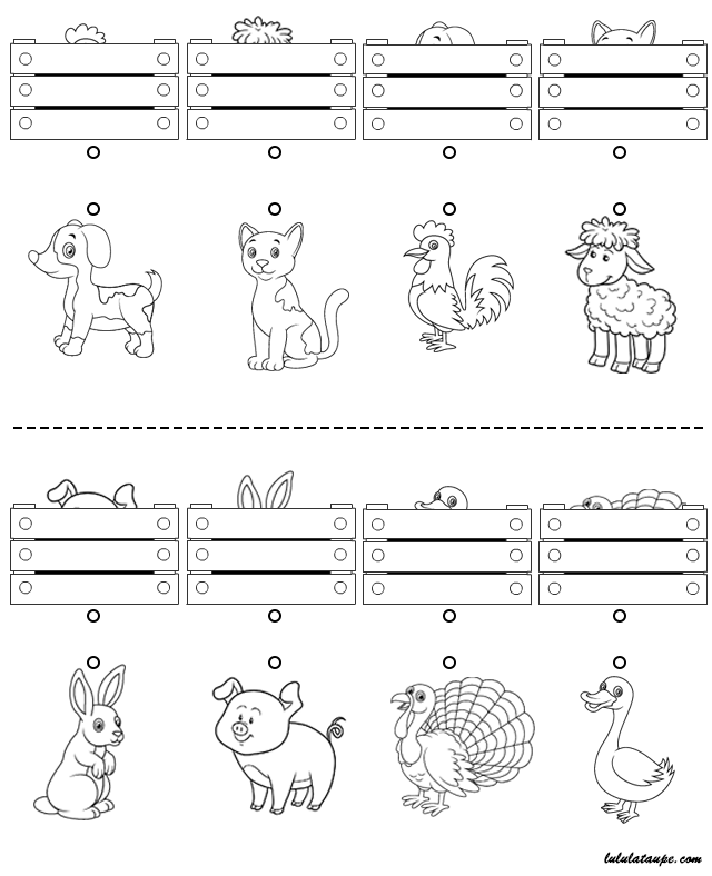 Exercice A Imprimer Gratuitement En Noir Et Blanc Les Animaux Caches Impressions Pour Maternelles Jeux Educatifs Maternelle Jeux Gratuits Pour Enfants