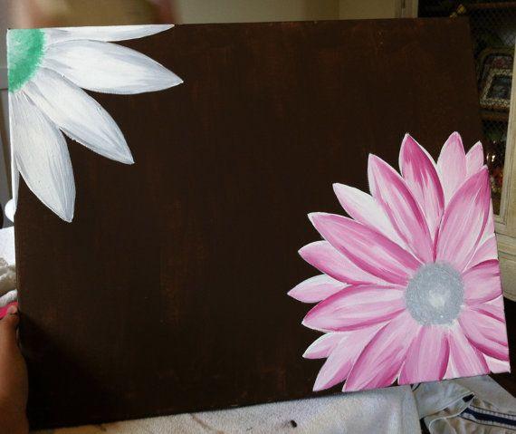 Best 25+ Acrylic painting flowers ideas on Pinterest ... Easy Acrylic Flower Paintings On Canvas